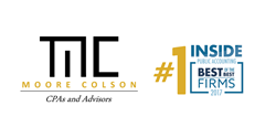 Moore Colson logo and number one Accounting and Advisory firm in the United States