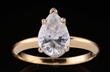 Pear Shaped Diamond 14K Gold Ring, estimated at $4,000-8,000.