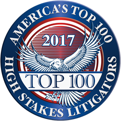 America's Top 100 High Stakes Litigators Award | Kevin Rowe