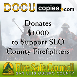 DocuCopies.com Supports SLO Firefighters with $1K Fire Safe Council Donation