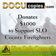 DocuCopies.com Supports SLO Firefighters with $1K Fire Council Donation