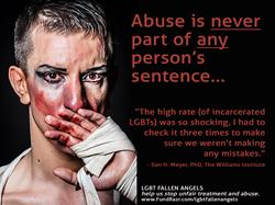 Abused man in makeup - LGBT Fallen Angels - Help fight the abuse (www.lgbtfallenangels.com)