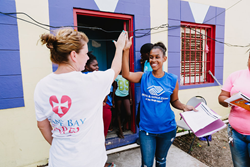 Cane Bay Cares distributed 18,000 bottles of water through the Boys and Girls Club of the Virgin Islands, My Brothers Table and the Zion Christian Academy to help St. Croix after Hurricanes Irma and Maria. Water distribution photo credit: Nicole Canegata