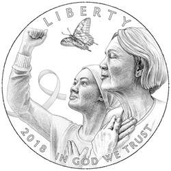 Common obverse of the Breast Cancer Awareness Commemorative Coins