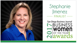 Stephanie Jimenez, Senior Vice President, First Associates Nominated for San Diego Business Journal Women of the Year