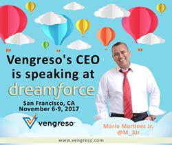 Mario Martinez Jr., Vengreso CEO speaking at Dreamforce 2017