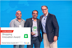 Santosh Gannavarapu, Ashish Mehta and Todd Rowe at Google Premier Partner Awards 2017