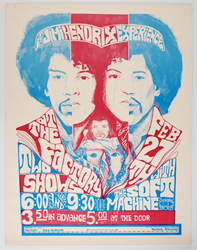 Rare Jimi Hendrix Concert Poster The Factory 2/27/68