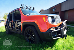 Jeep Renegade Bumper Guard, Spare Tire Carrier, Light Bar Accessory Mount, Tube Doors