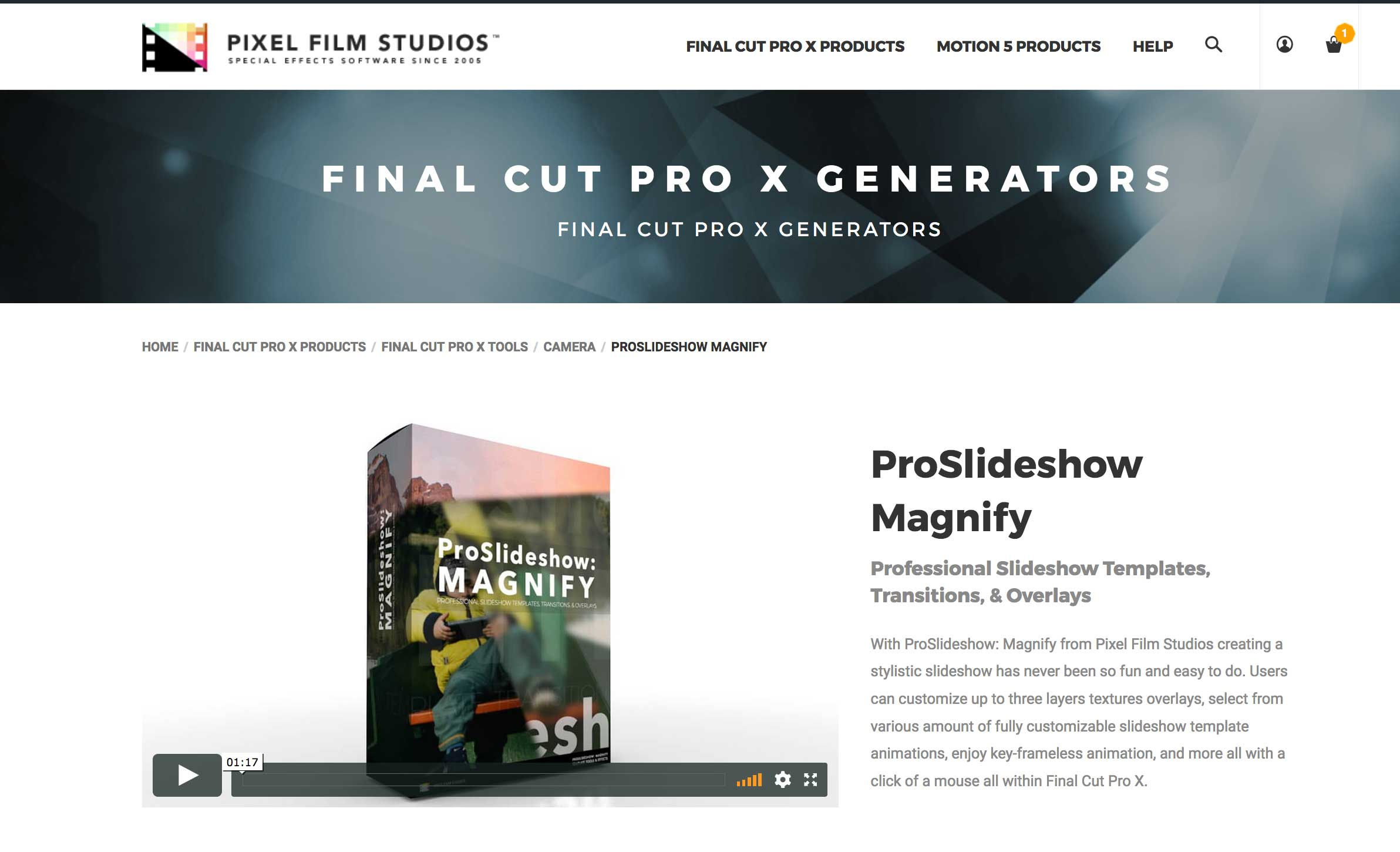 A Fcpx Effect Called Proslideshow Magnify Was Released By Pixel Film