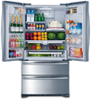 The 36-inch 4-Door French Door Freestanding Refrigerator features counter depth French doors with dual cycle and dual air-cooled refrigeration for $1,799 MSRP.