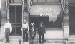 People's State Bank Building in Edmore, Michigan