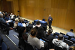 """Dr. Michael J. Brescia, Executive Medical Director, leading a breakout session on """"Issues in End-of- Life Care."""""""