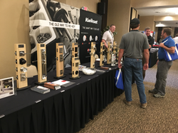Wayne Homes employees speak with Kwikset representatives at the Trade Partner Expo held on October 18 and 19, 2017. The expo was a chance for Wayne Homes employees to learn about new products that are just coming to market.