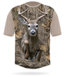 Hillman white tailed deer short sleeve t-shirt with Photocamouflage
