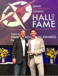 Idaho Innovator of the Year Matt Rissell and Co-founder Brandon Zehm