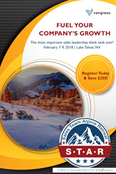 Join Vengeso at Frost & Sullivan's Sales Team Alpine Retreat (STAR) February 8, 2018.