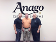 Jeff Prue receiving a congratulations for opening Anago of Charlotte