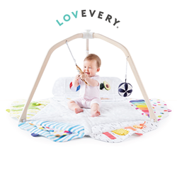 We've done all the research. The Play Gym by Lovevery includes everything you need - from batting to teething to learning to focus - for your baby's first year of play.