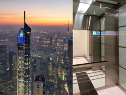 Kuwait skyscraper chooses CAYIN for wireless elevator digital signage solutions.