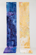 Diptych inpired by Ohara Isumi-City Japan by artist Anne Labovitz. Acrylic on Tyvek 30 inches X 33 feet