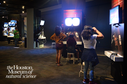 Virtual reality exhibit in Houston Museum of Natural Science