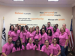 Anago Cleaning Systems' corporate staff members participating in the company's Breast Cancer Awareness campaign.