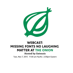 Extensis Hosts Webcast with The Onion