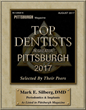 Award given to Dr. Mark Silberg as the Top Peridontist in Pittsburgh