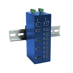 4-port and 7-port industrial USB 3.0 hubs