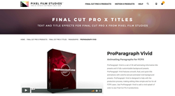 Apple FCPX - Pixel Film Studios - Final Cut Pro X Editors