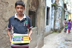 HOPE scholar carries textbooks