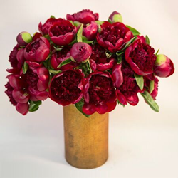 Red peonies NYC, imported from France and available for luxury flower delivery NYC by Gabriela Wakeham Floral Design New York, NY