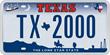 Texas 2000 plate