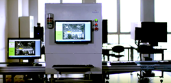 The INSPECT.assembly system detects the presence, position, and integrity of components including screws, cables, connectors, and other critical features before final device enclosure to automate assembly inspection.