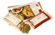 Each monthly Spice Club installment includes a recipe and seasonings to prepare a dinner for 4.