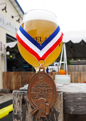 Co-Conspirator Apricot Sour with the Bronze Medal Proudly Displayed