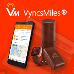 Download the app and you are good to go. You can also enhance the experience with Vyncs OBD-II device, smart-watches, and Amazon Alexa.