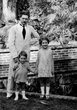 George Groslier At home in Phnom Penh in 1925. With Gilbert (born Sep. 8, 1922) and Nicole (born June 15, 1918).
