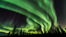 Photo of aurora borealis taken just outside of Fairbanks in Septemer, 2017.