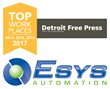 Detroit Free Press Names Esys Automation a Top Workplace in 2017
