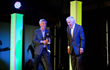 Tom Bergeron (L) and Dick Van Dyke share a laugh (photo by Laura Johansen/Alaura Imagery and Design)