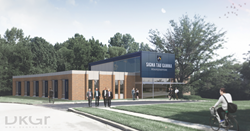 Exterior renderings of new Sig Tau headquarters in Indianapolis