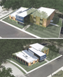 Renderings of new Sig Tau Headquarters showcase history and new branding throughout.