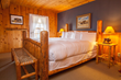 After a long day outside in the snow, Brooks Lake Lodge guests sleep soundly in plush bedding and quiet amenity-filled suites and cabins.