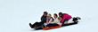 Family sledding at Eagle Ridge Resort and Spa's Nordic Center