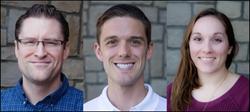 Brendan Gallagher, Chase Rabourn, Leah Taylor of MCG's Digital Marketing Team