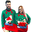Two Person Ugly Christmas Sweater Deck the Bathroom