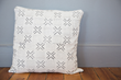 Moon Water Vintage Mud Cloth Pillow, Ivory