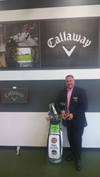 Paul Clivio, Director of Golf at St. Andrews Country Club with his Callway Professional of the Year Award